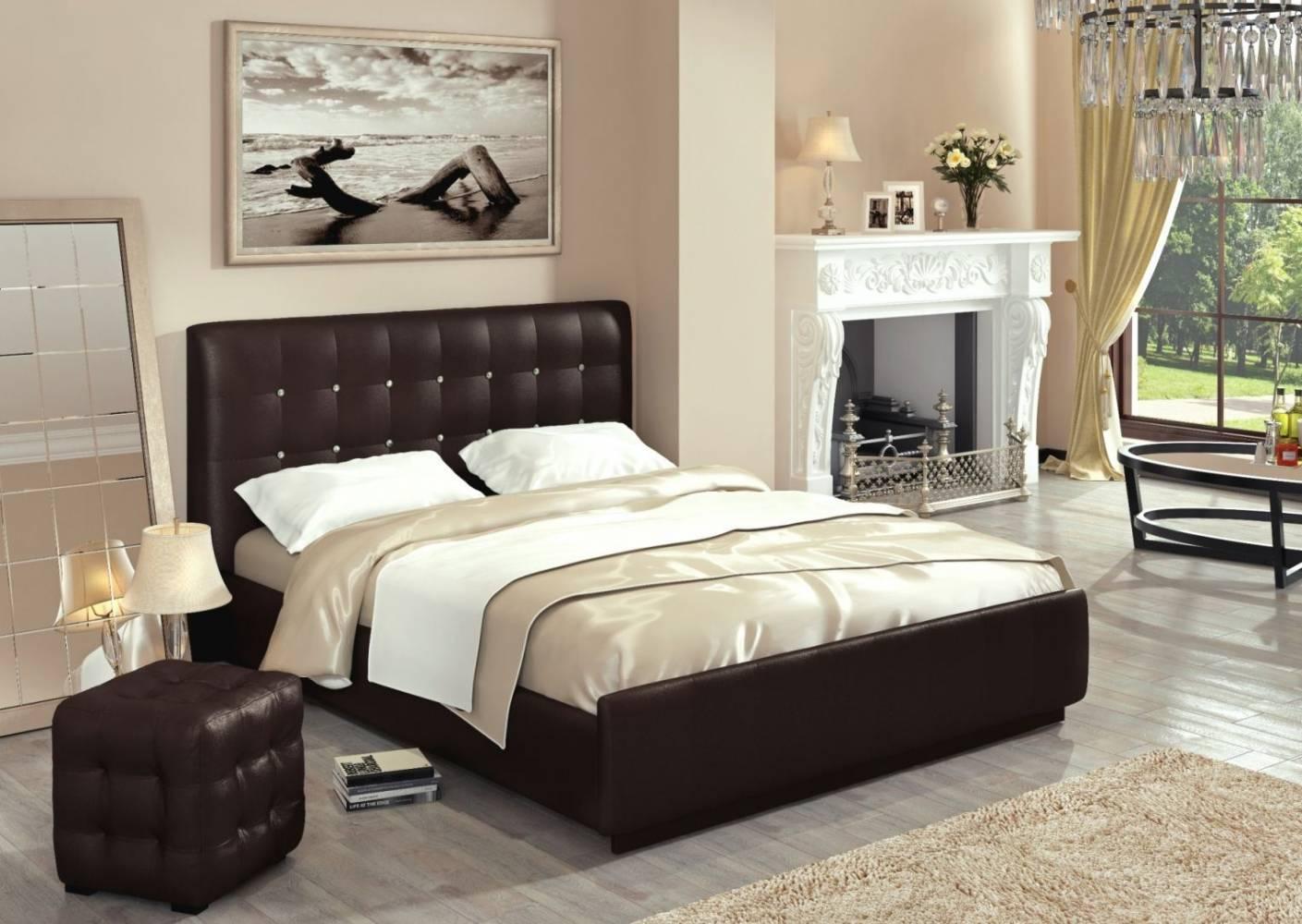 Кровать Лорена Best 160*200 с под. механизмом и ящиком для белья (без страз)