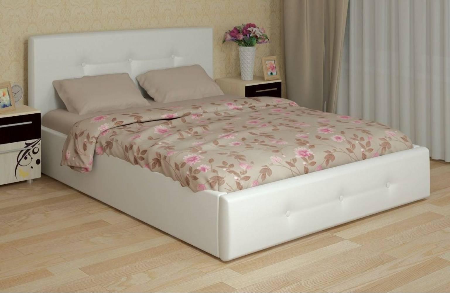 Линда Кровать интерьерная 140*200 см + ортопед 140 ножка 185 мм-5 шт