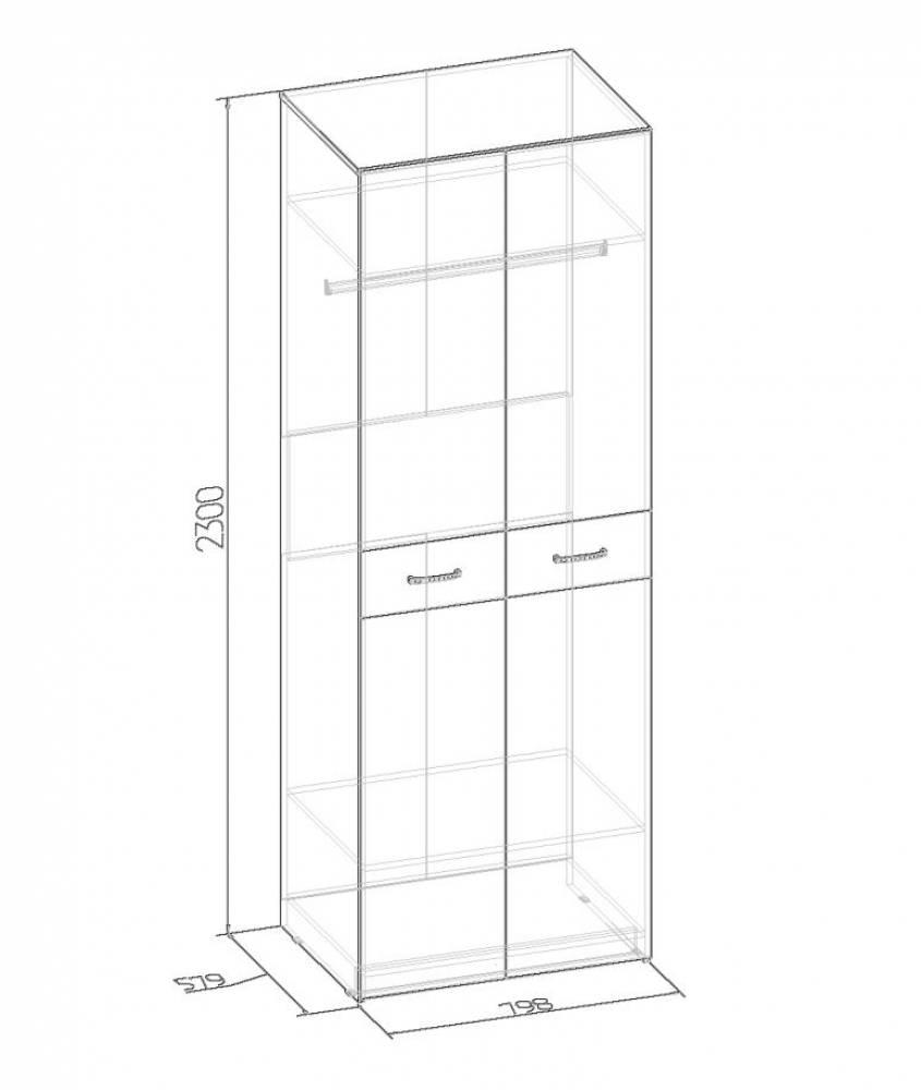 WYSPAA 35 Шкаф для одежды, фасад СТАНДАРТ*2шт