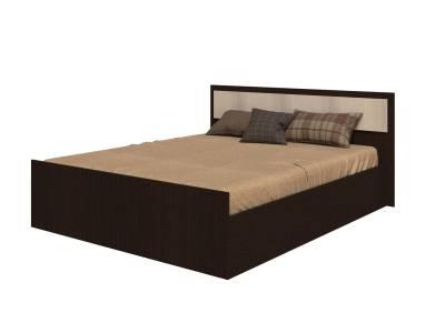Кровать на 1600 с проложкой ДСП, без матраса Фиеста, венге