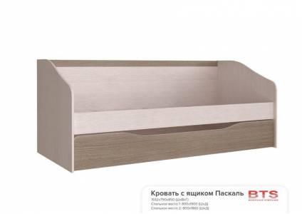 Кровать 80*190 см с настилом, без матраса Паскаль