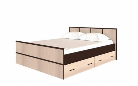 Кровать на 140, с настилом ДСП, без матраса Сакура