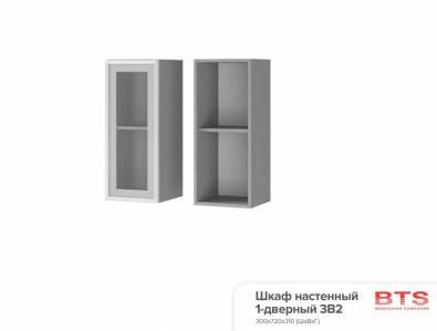 3В2 Шкаф настенный 1-дверный со стеклом Прованс 2