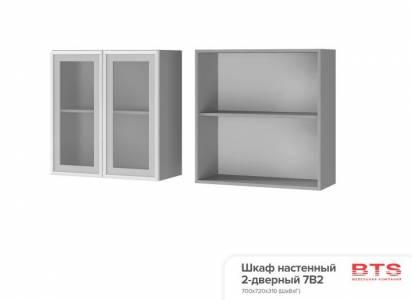 7В2 Шкаф настенный 2-дверный со стеклом Прованс 2