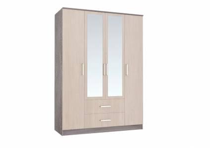 Шкаф 4-х дверный Фиеста, ясень