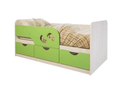Кровать Минима Лего, лайм глянец