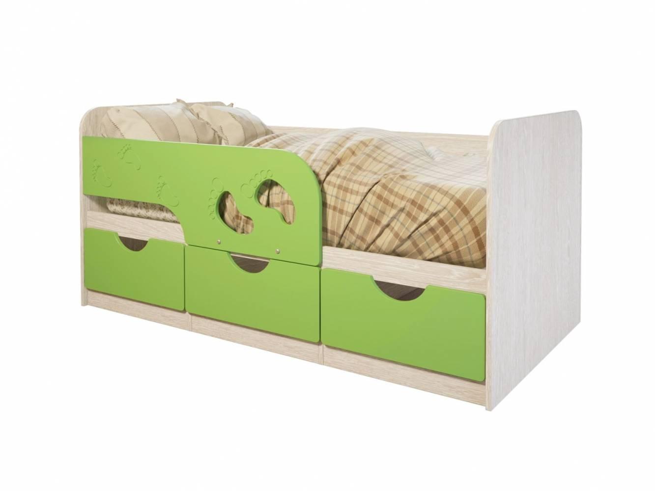 Кровать Минима Лего-2, лайм глянец