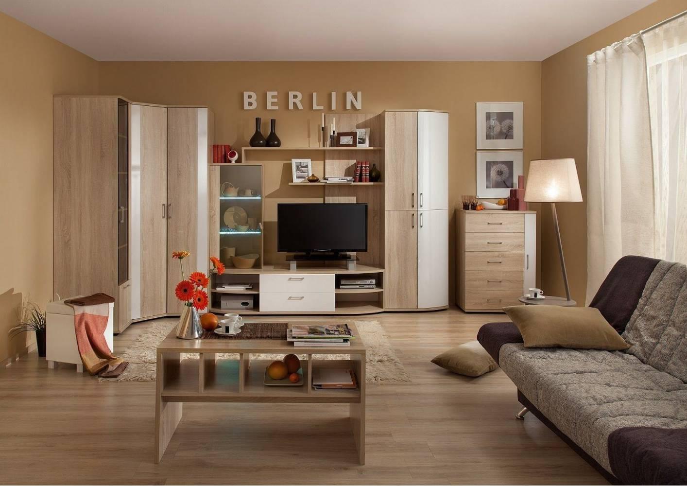 Гостиная BERLIN (Сонома, Глянец). Комплект 1