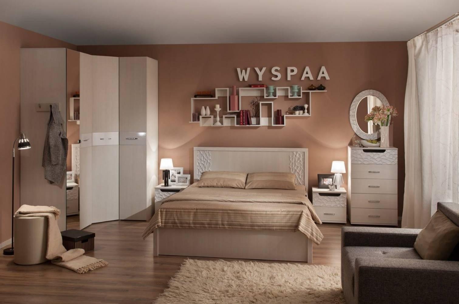 Спальня WYSPAA (Виспа), Бодега Светлый. Комплект 1