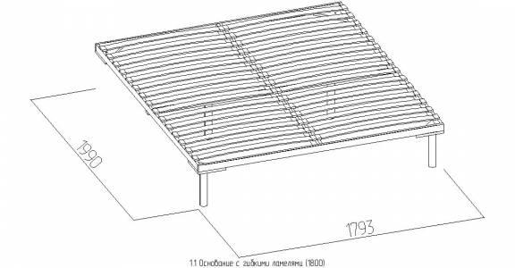 Карина 10.1 Основание универсальное с гибкими ламелями (1800), дерево