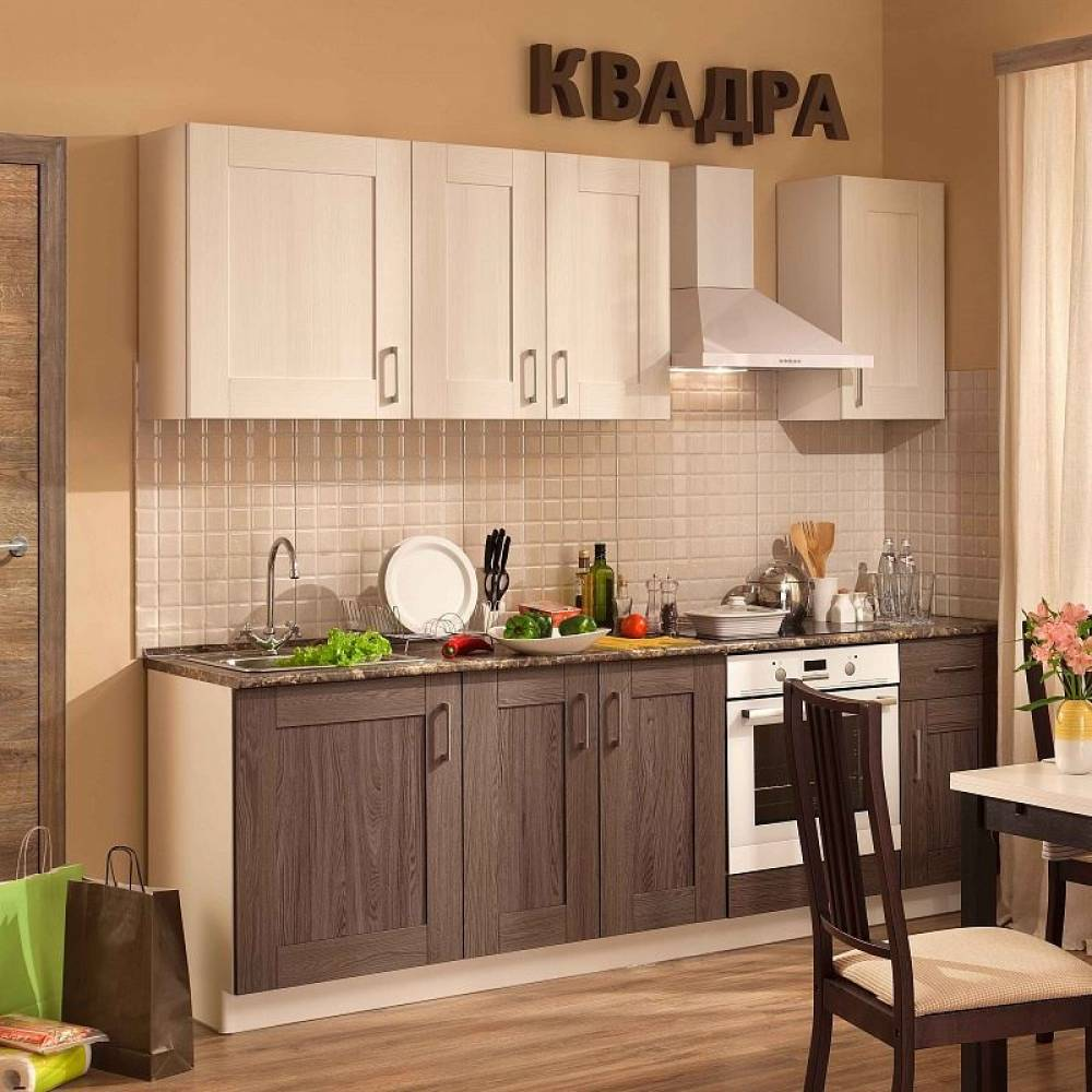 Кухонный гарнитур КВАДРА 2400