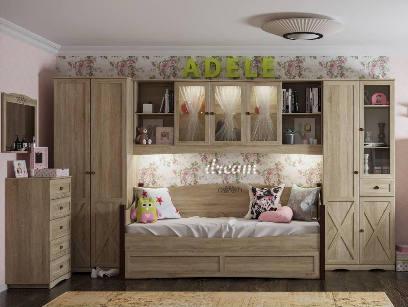 Молодежная комната ADELE (Сонома). Комплект 1
