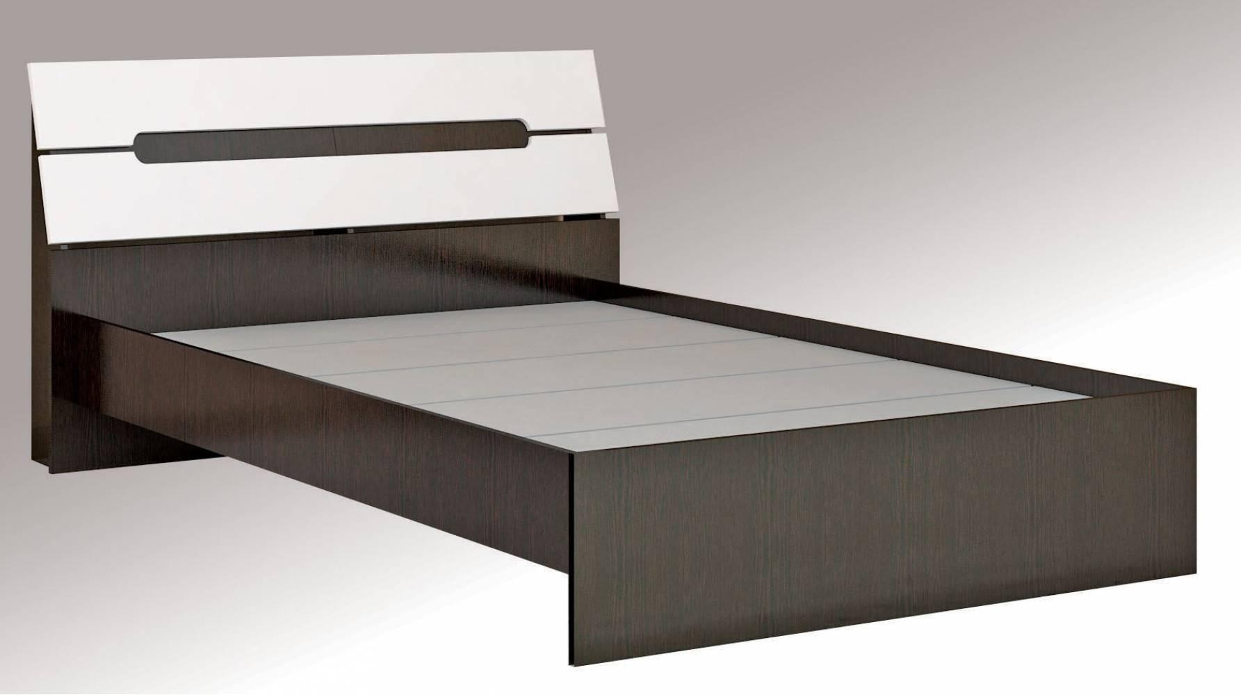 Гавана Кровать 1,4 с основанием ДСП, без матраса, Акрил Белый