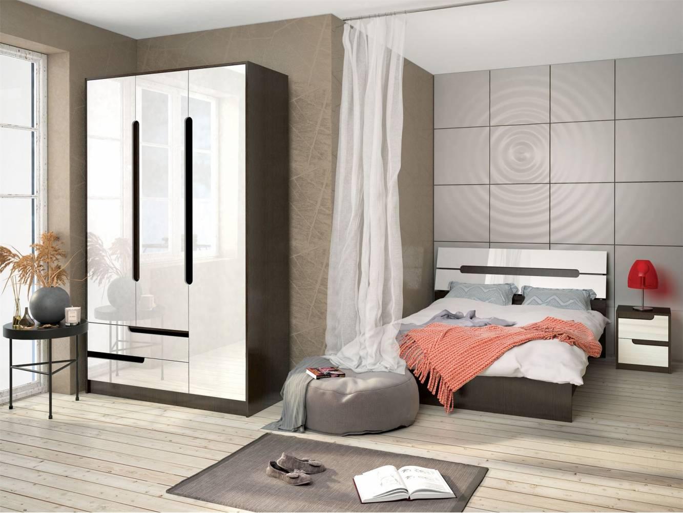 Спальня Гавана (Акрил Белый). Комплект 1