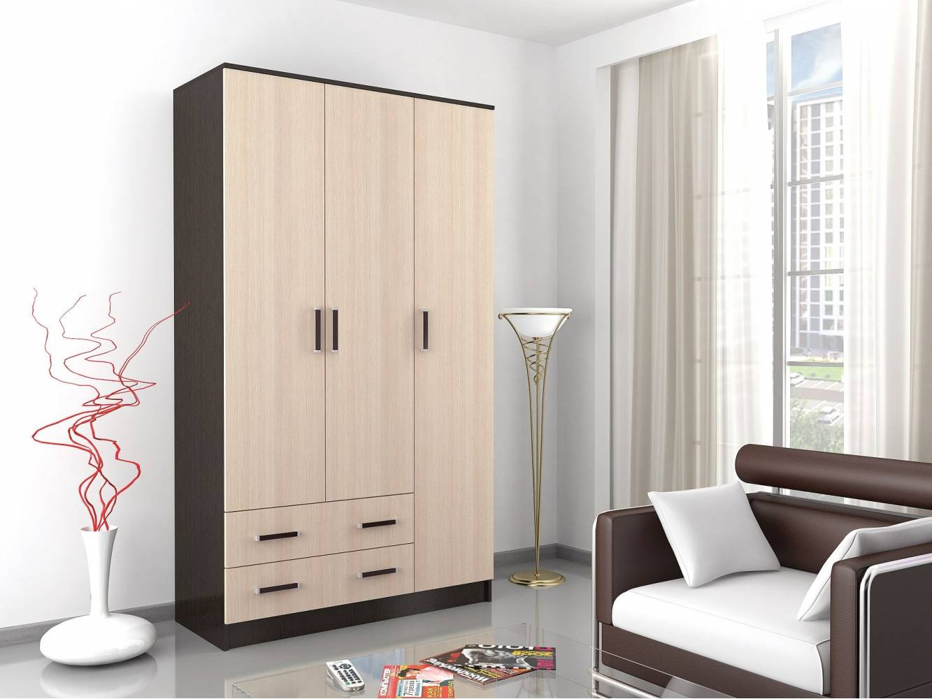 Шкаф комбинированный Лагуна без зеркала