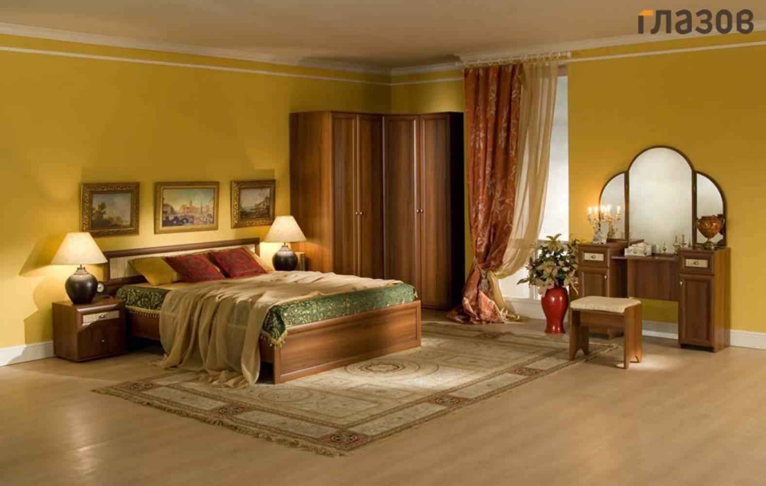 Спальня Милана (Орех) Комплект 3