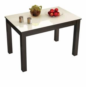 Стол обеденный нераскладной Норман 1100*700 (Лакобель Ваниль)
