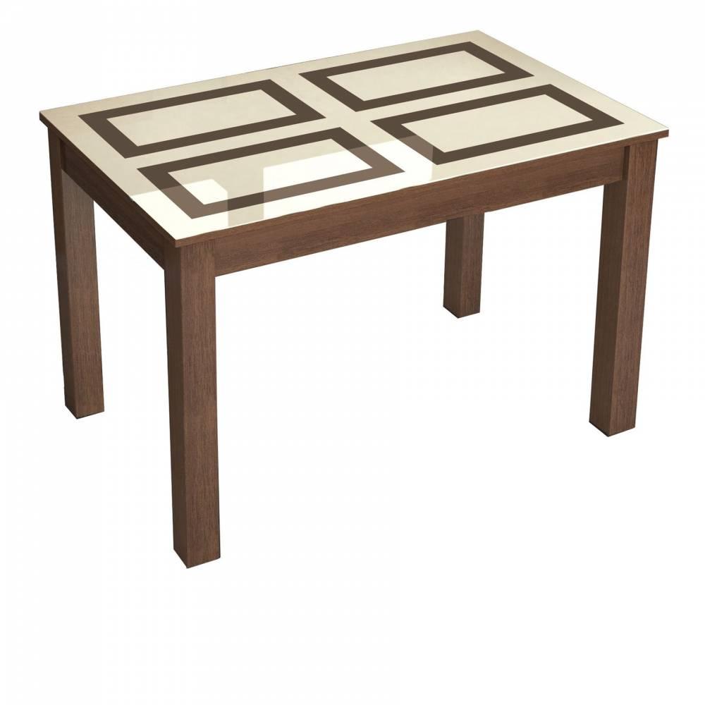 Стол обеденный нераскладной Норман 1100*700 (рисунок Плитка)