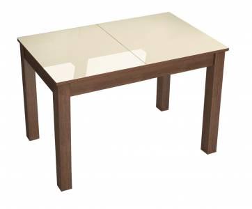 Стол обеденный раскладной БРУНО 1100*700 (Лакобель Ваниль)