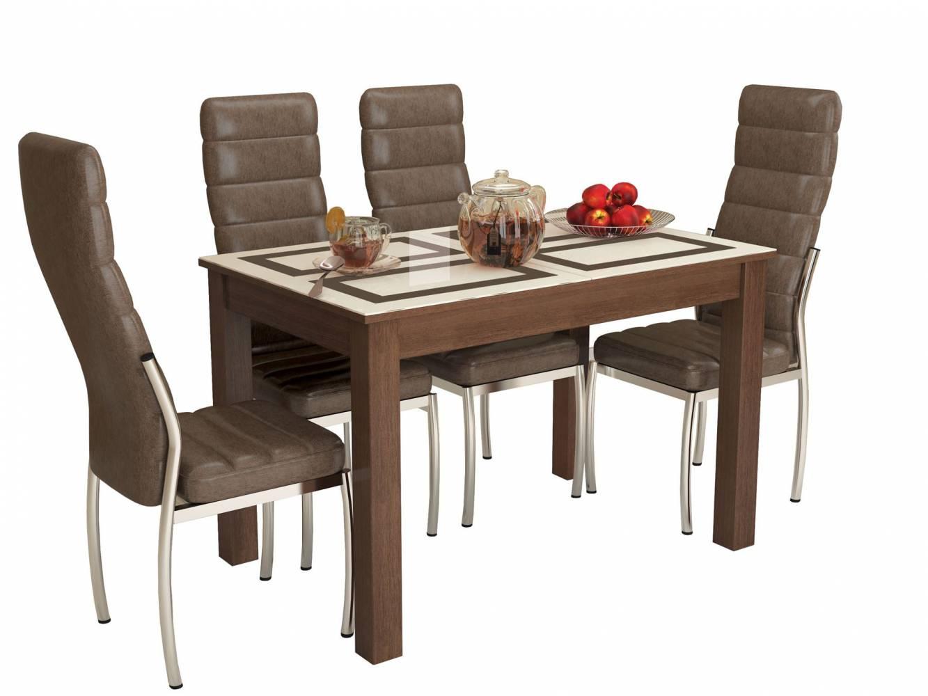 Стол обеденный раскладной БРУНО 1100*700 (рисунок Плитка)