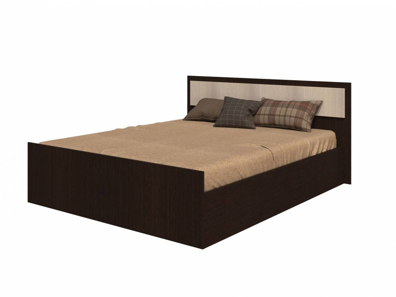 Кровать на 1200 с поддоном, без матраса Фиеста Венге