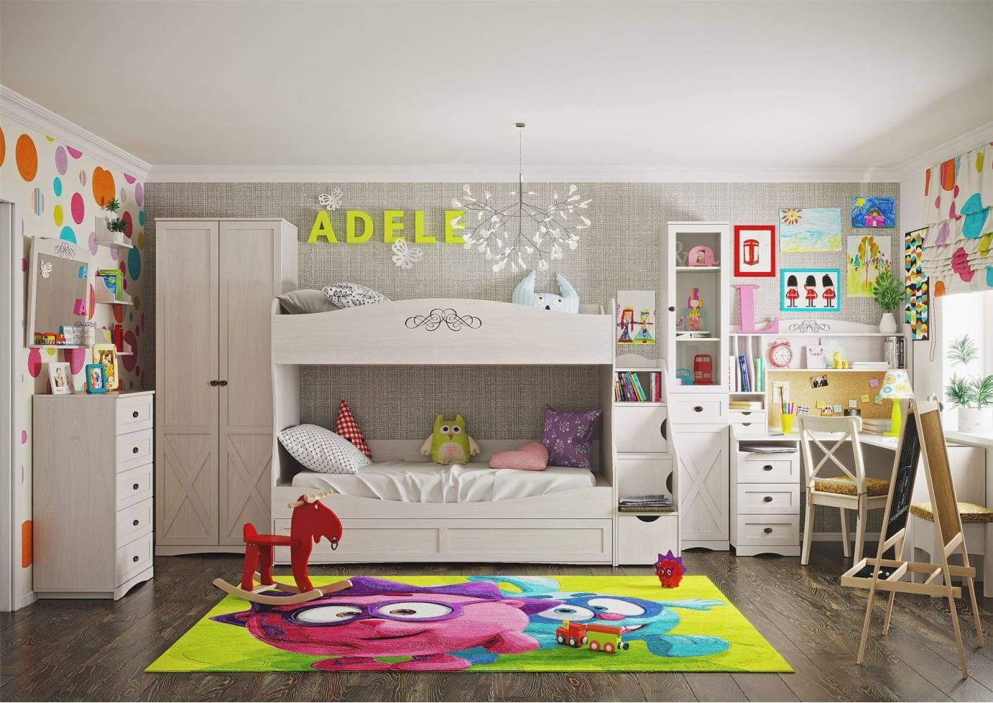 Молодежная комната ADELE (Адель), Ясень Анкор светлый. Комплект 2