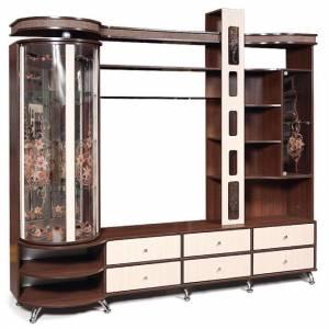 Шкаф комбинированный с витриной Л Орфей 11, КМК 0364.1 левый