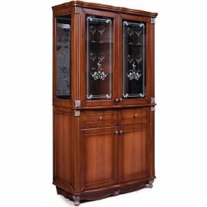 Шкаф с витриной Баккара с рисунком КМК 0441.4