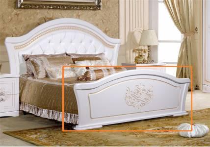 Кровать Графиня без ножного щита КМК 0379.2 (Белый металлик+золото)