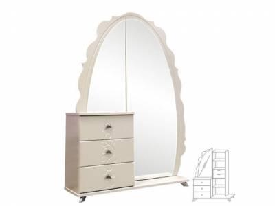 Шкаф комбинированный Жемчужина с зеркалом КМК 0380.12