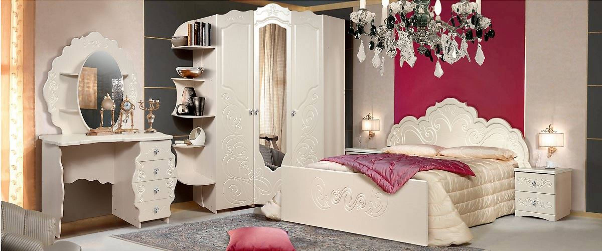 Спальня Жемчужина КМК 0380. Комплект 3