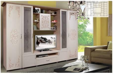 Шкаф комбинированный Нежность КМК 0412, Венге Светлый