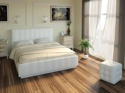 Кровать Лорена Легенд вайт 140*200 с под. механизмом и ящиком для белья (без страз)