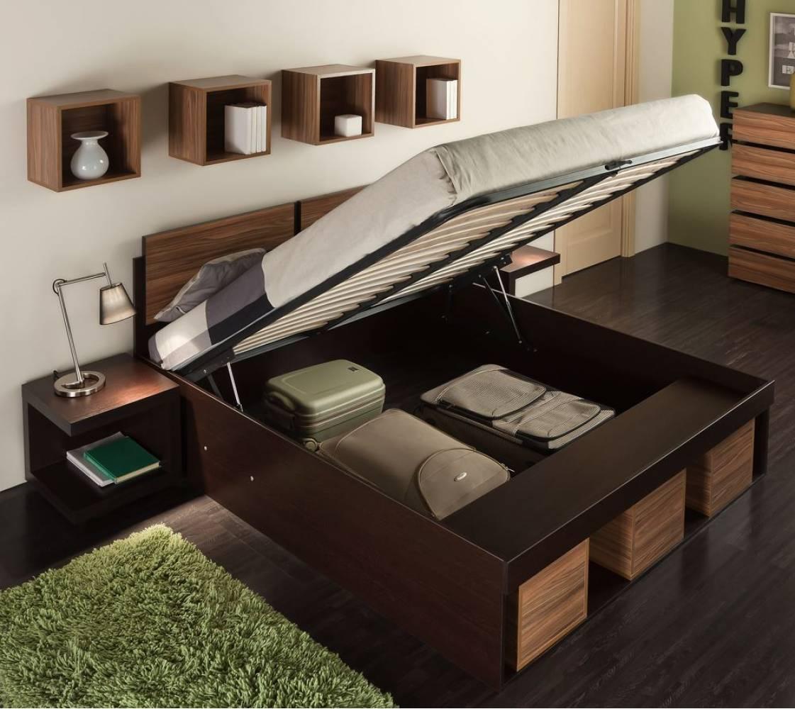 Кровать1 Hyper 180*200 с подъемным механизмом (Венге/палисандр)