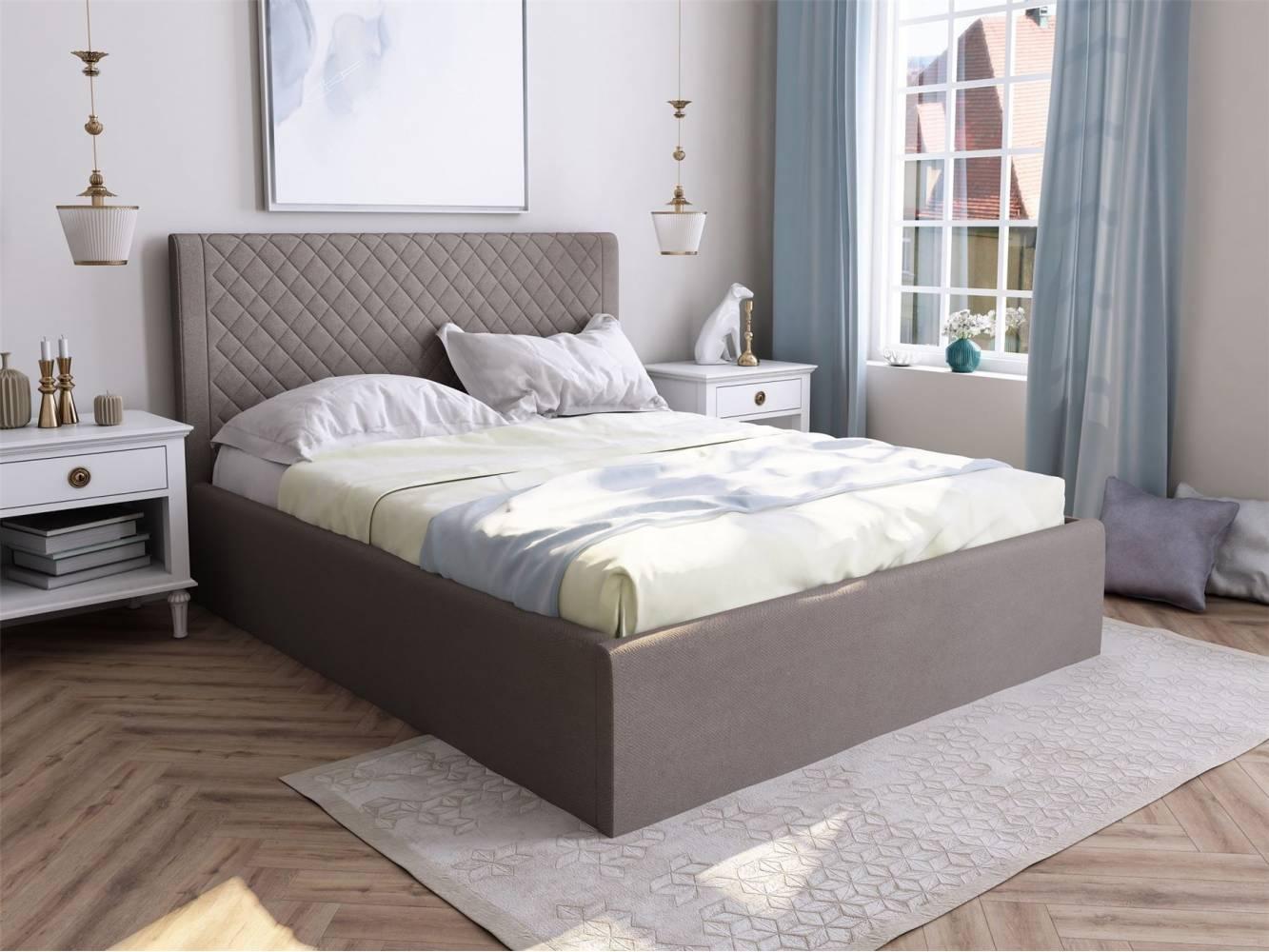 Мягкая кровать Милана с подъемным механизмом 1600