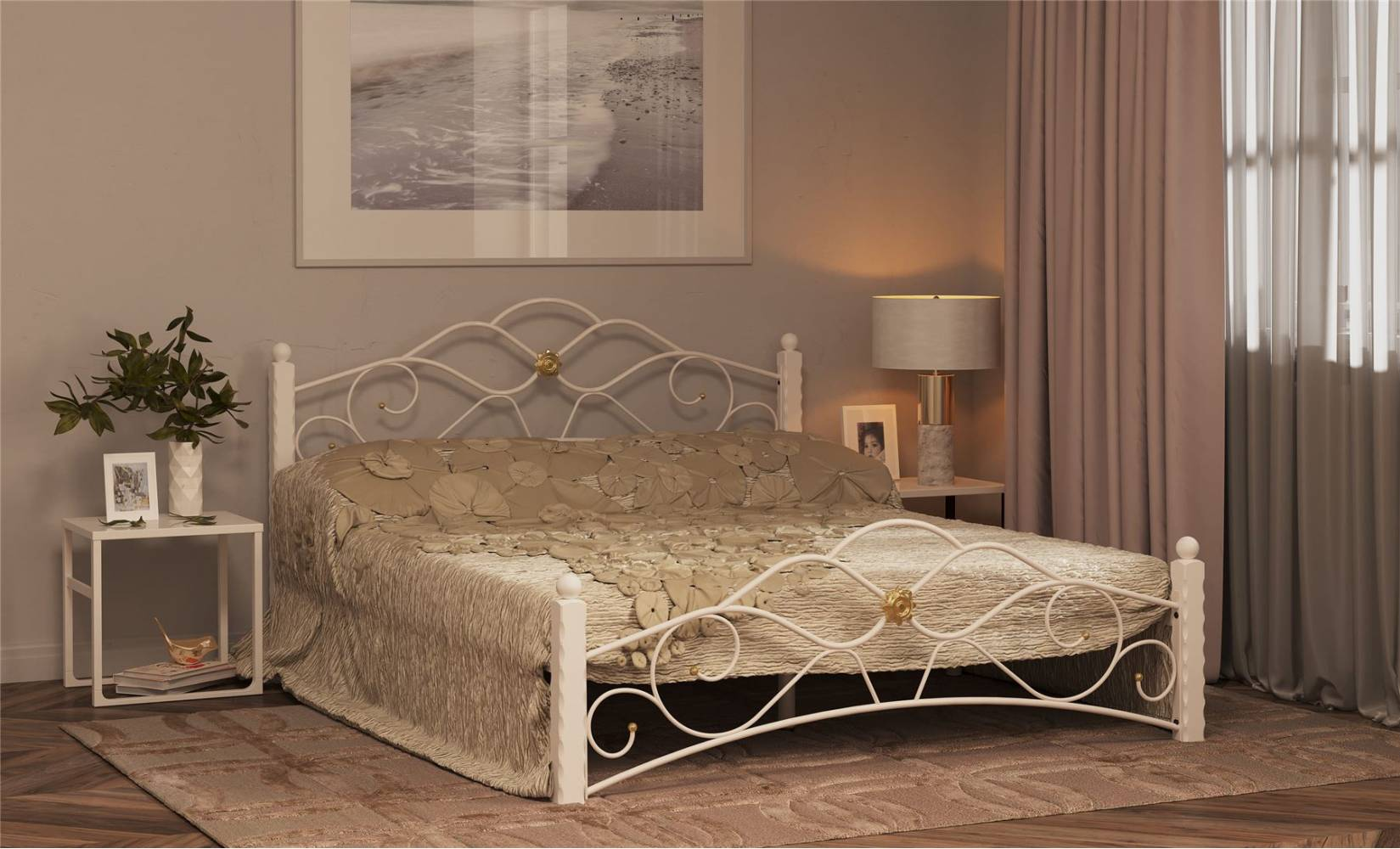 Кровать Garda-3 Белая 1600, без матраса