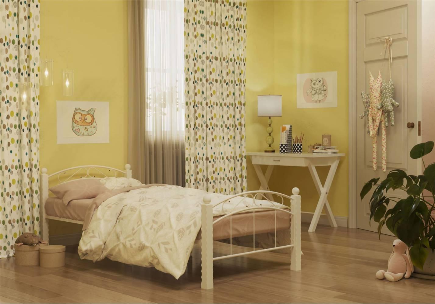 Кровать Garda-15 Белая 900, без матраса