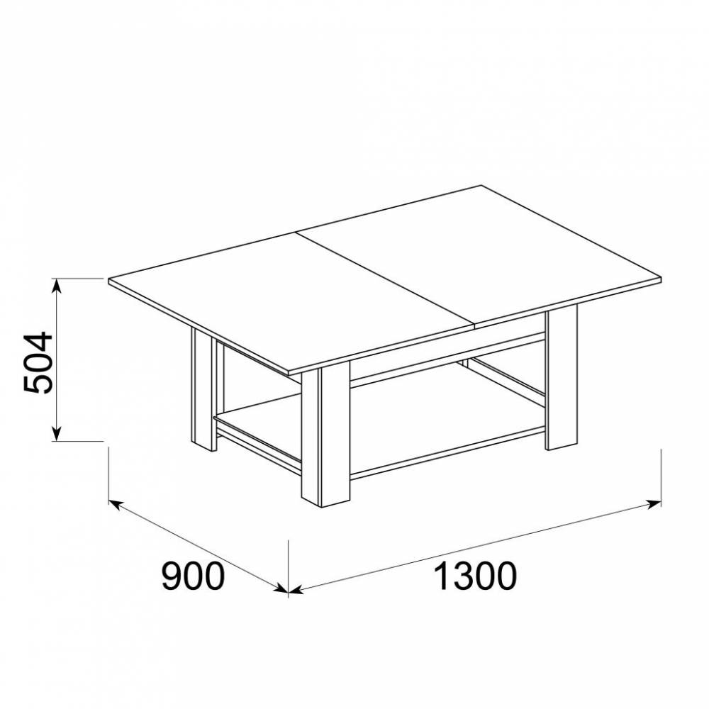 Рубин-5 Стол журнальный раздвижной, Венге