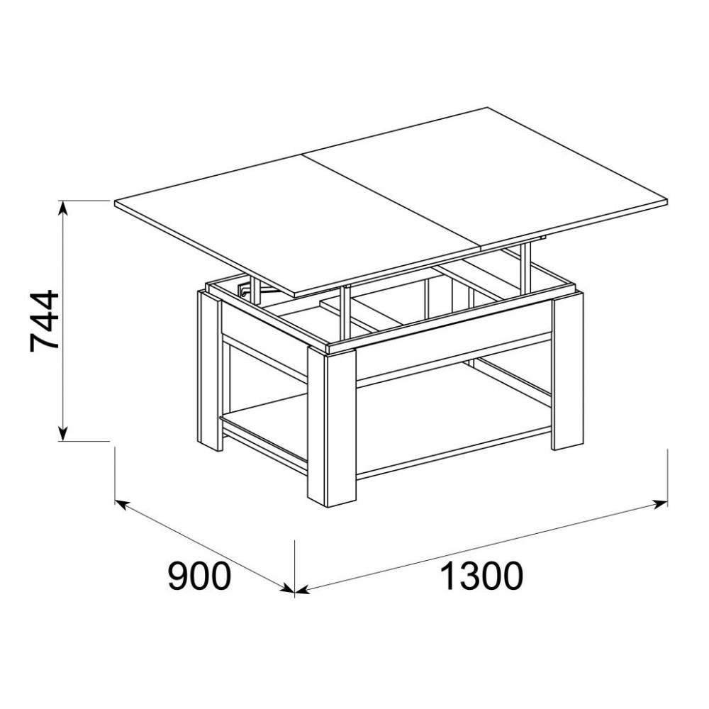 Рубин-5 Стол журнальный раздвижной, Дуб Сонома Светлый