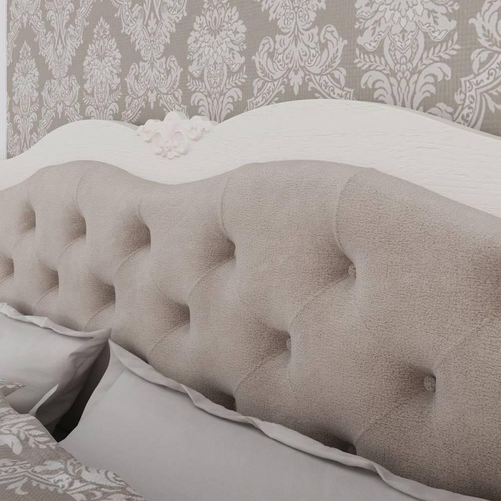 Элен мод № 2.2 кровать с мягкой спинкой 1,4 б/о, б/м (Перламутр/Дуб фактурный)
