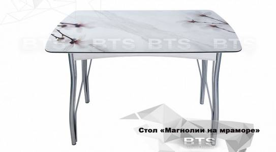 Стол обеденный Магнолия на мраморе (1200х680х22)