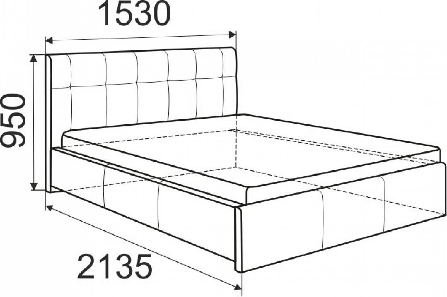 Кровать экокожа Лаура Вайт 1800 с ортопедом, без матраса