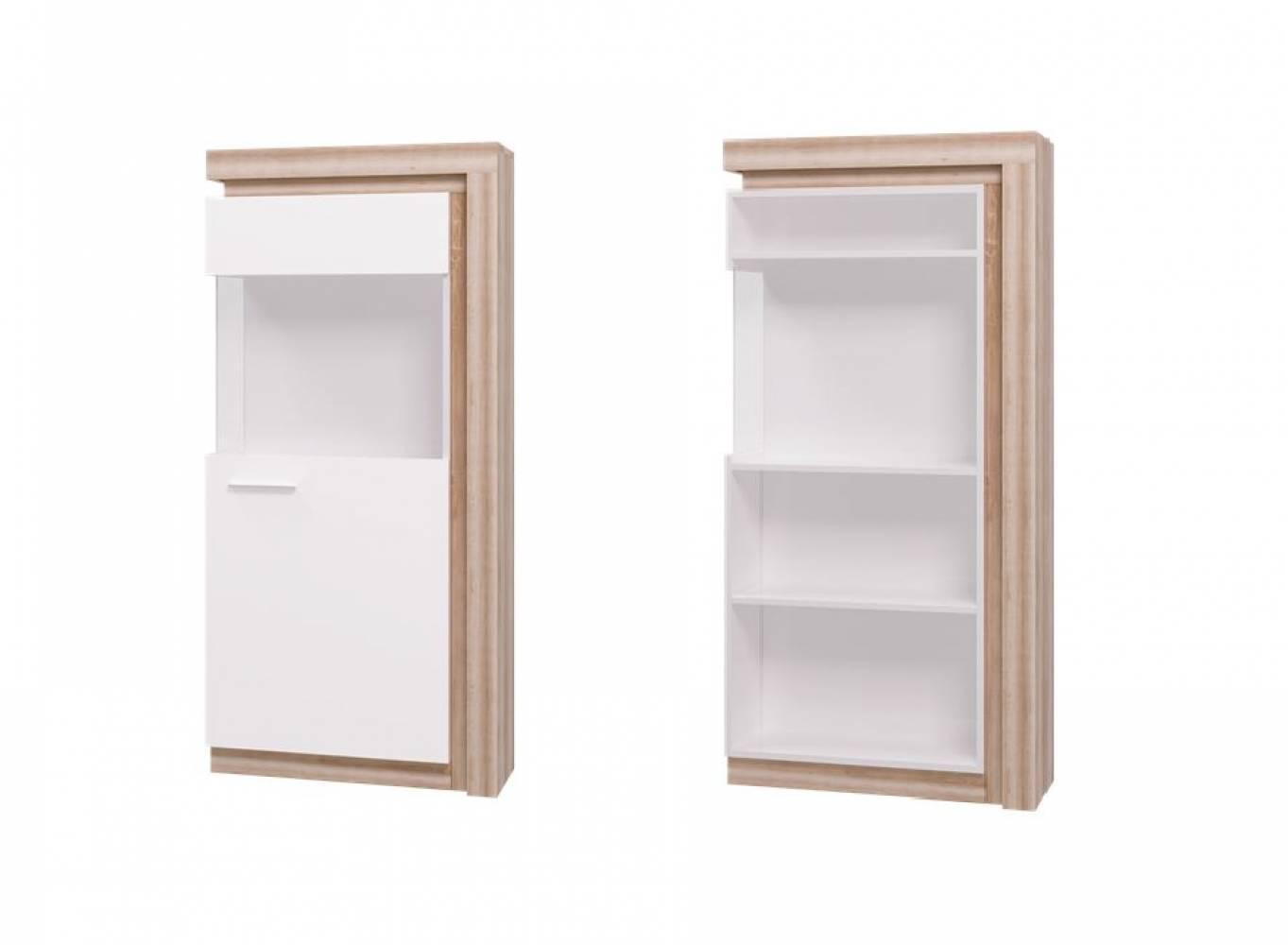 Люмен 01 Шкаф-витрина (Дуб Сакраменто)