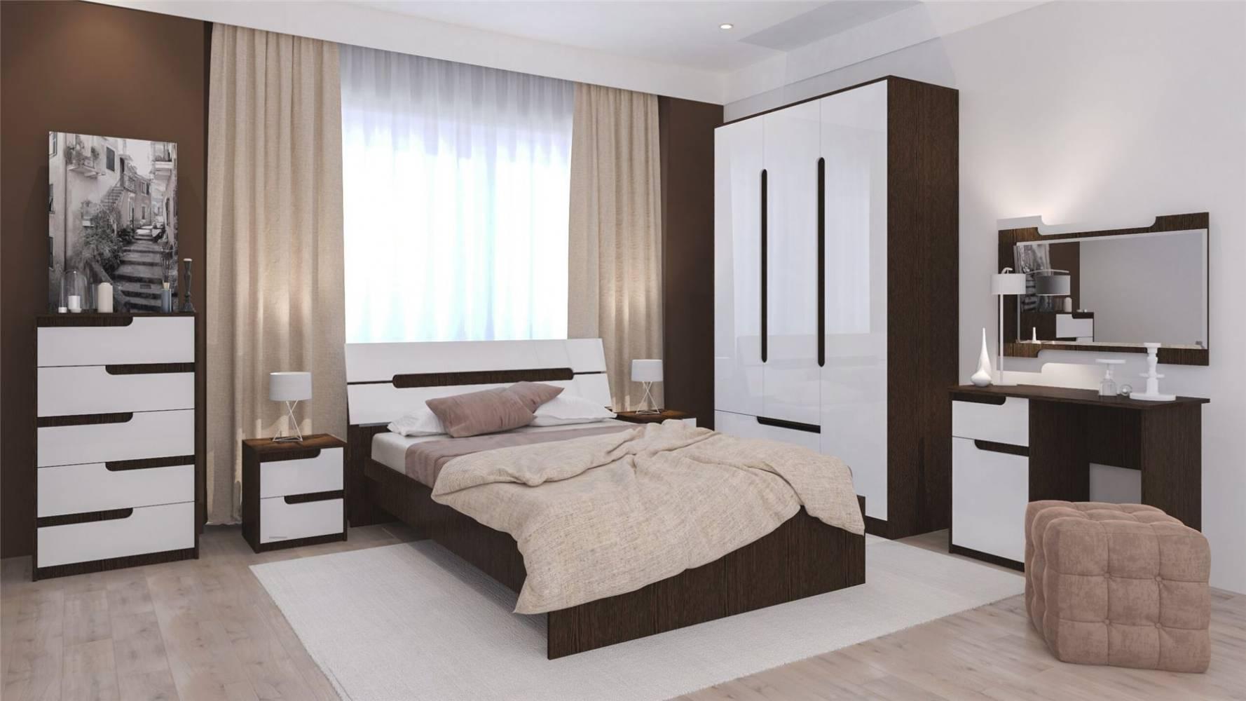 Спальня Гавана (Акрил Белый). Комплект 4
