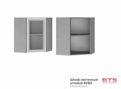 6УВ2 Шкаф настенный угловой со стеклом Эмили