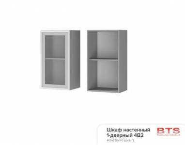 4В2 Шкаф настенный 1-дверный со стеклом Эмили