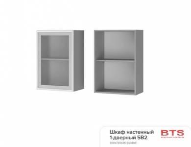5В2 Шкаф настенный 1-дверный со стеклом Эмили