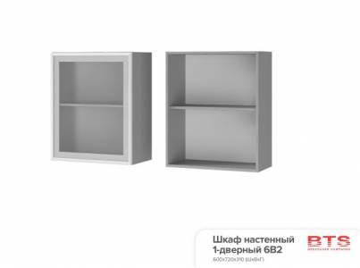 6В2 Шкаф настенный 1-дверный со стеклом Монро