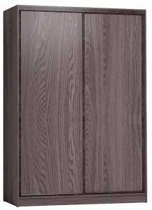 Шкаф-купе 1600 Домашний лдсп/лдсп + шлегель, Ясень Анкор темный