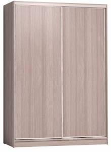 Шкаф-купе 1600 Домашний лдсп/лдсп + шлегель, Ясень шимо светлый